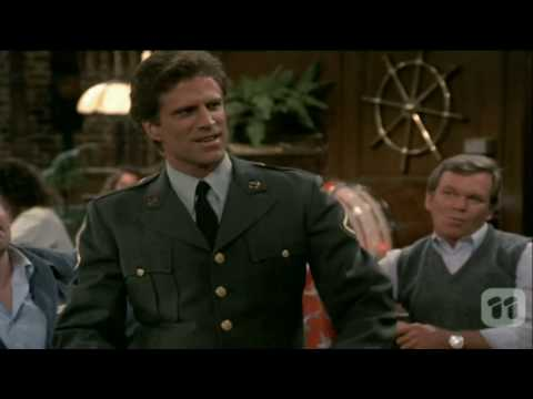 Cheers: Sam enlists in the Army