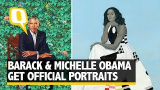 obama banters about michelles hotness at portrait unveiling the quint