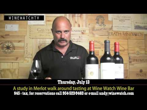 A study in Merlot walk around tasting at Wine Watch Wine Bar - click image for video