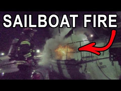 My Sailboat CAUGHT ON FIRE - NO INSURANCE