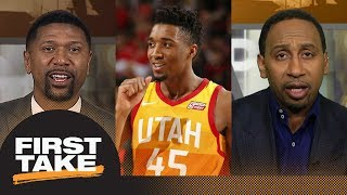 Stephen A. Smith and Jalen Rose pick Donovan Mitchell for Rookie of the Year | First Take | ESPN