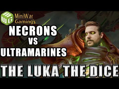 Necrons vs Ultramarines Warhammer 40k Battle Report - Just the Luka the Dice Ep 19