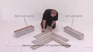 ALSAFLOOR by ALSAPAN flooring range  The herringbone installation !