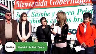 Y para cerrar este día de trabajo la Gober entrega #Apoyos y #Becas a la gente del #Sáric 👍🏽✅