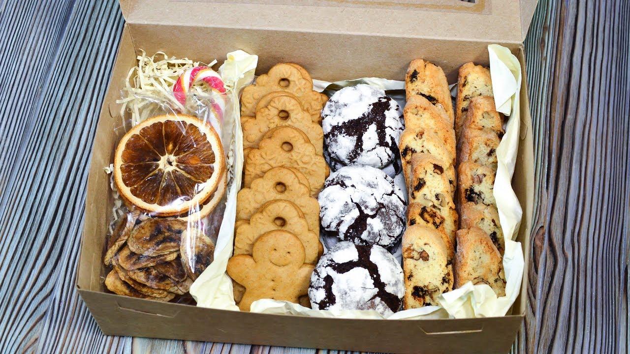 КОРОБОЧКА с ПЕЧЕНЬЕМ ☆ ПОДАРОК на НОВЫЙ ГОД ☆ Имбирное, шоколадное и бискотти