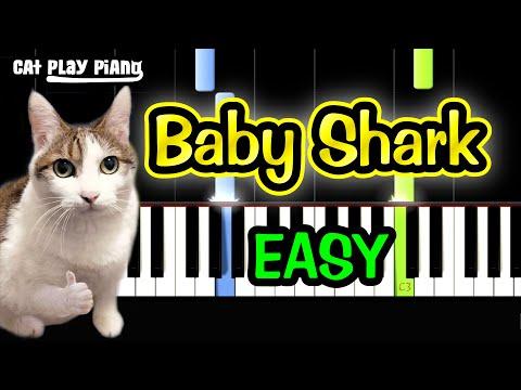 Baby Shark - Piano Tutorial Easy + Free Sheet Music PDF thumbnail