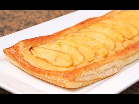 Tarta de Manzana con Crema y Hojaldre   Fácil y Rápida!