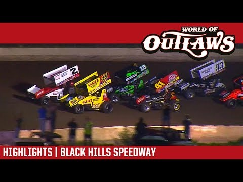 World of Outlaws Craftsman Sprint Cars Black Hills Speedway August 25, 2017 | HIGHLIGHTS