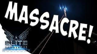 INTENSE COMBAT ACTION? - Elite Dangerous Horizons Gameplay