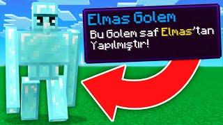 MİNECRAFT ama ÖZEL GOLEMLER VAR  😱 Minecraft