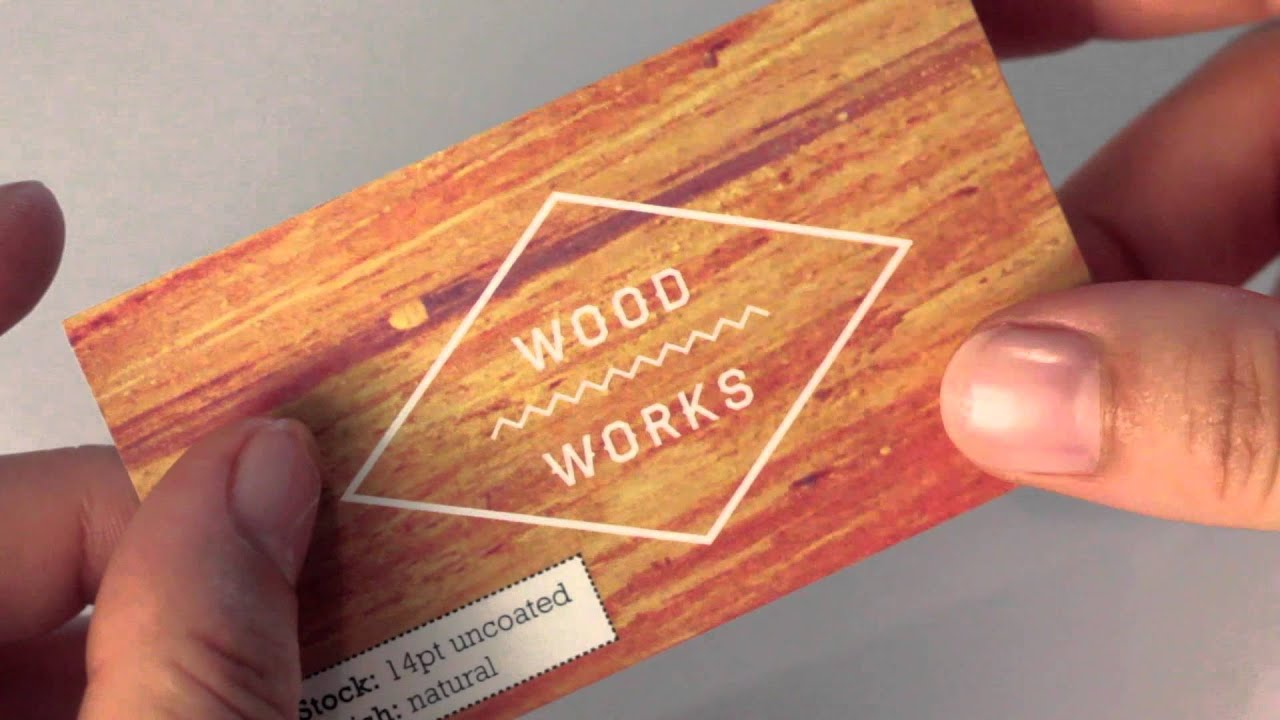 Uncoated Natural Business Cards - YouTube