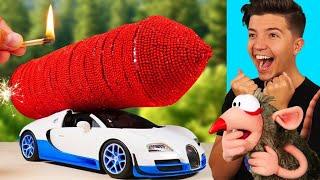 INSANE DIY ROCKET CAR! (AMAZING EXPERIMENTS)
