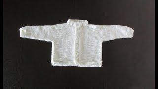 Кофта для новорожденного снизу вверх спицами. Часть 1