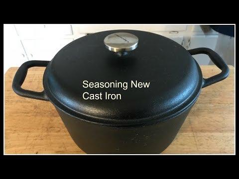 Seasoning a 8 QT Cast Iron Boiling pot