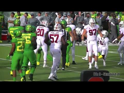 2018 Oregon loses to Stanford 38-31 in OT.  (Full Game Highlights)