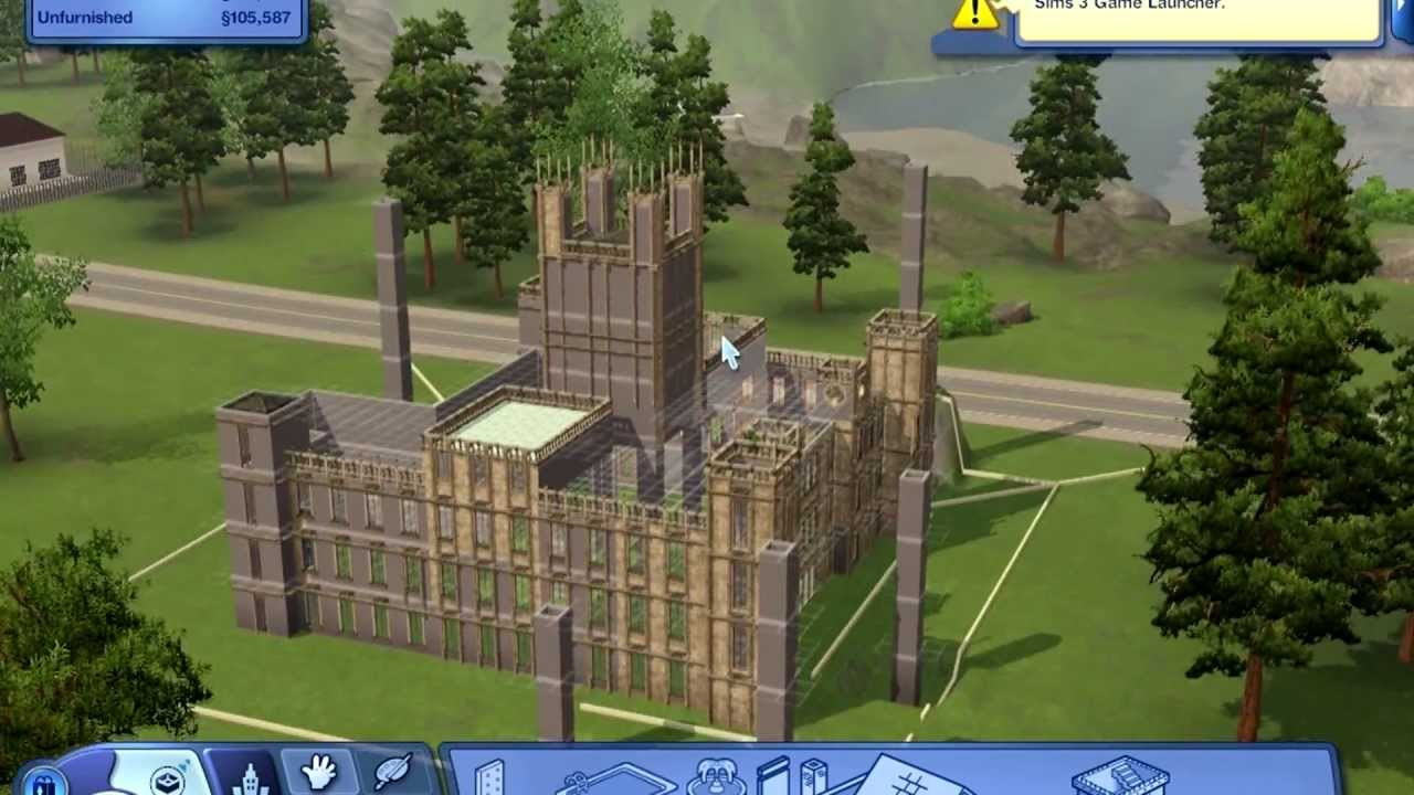 Sims 3 - Building Downton Abbey - YouTube