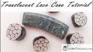 Easy Polymer Clay Cane: Translucent Lace Cane