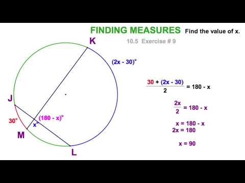 Angle Relationships With Circles 105 Youtube