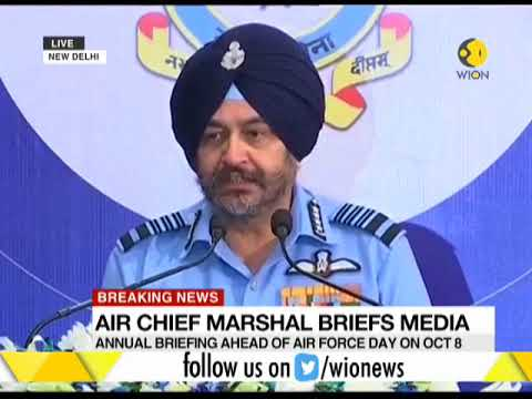 Indian Air Chief Marshal BS Dhanoa says Indian Air Force is ready for every challenge