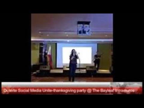 FULL VIDEO Duterte Social Media Unite thanksgiving party @ The Bayleaf Intramuros Part 1