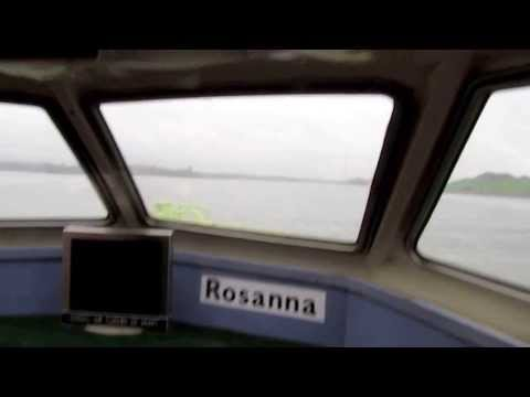 Front seat on FastFerry Amsterdam - IJmuiden along the North Sea Canal 2013 11 28