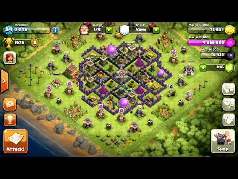 Clash of Clans: Wall Stacked on Cannon Glitch
