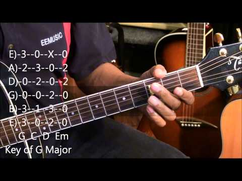 Understanding Keys On Guitar Easy Lesson Tutorial w Chord TABS EricBlackmonMusicHD