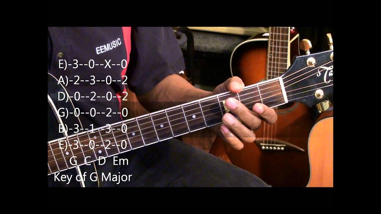 Understanding Keys On Guitar Easy Lesson Tutorial w Chord TABS ...