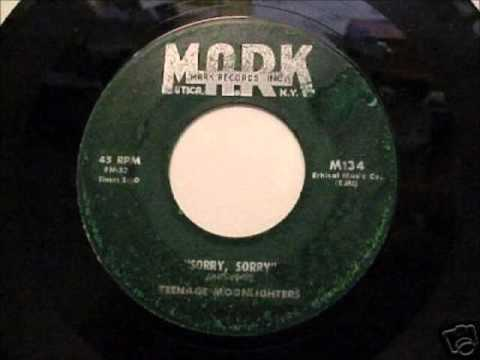 TEENAGE MOONLIGHTERS - I WANT TO CRY - MARK 134 - 1958