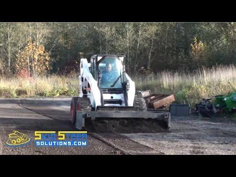 Eterra EG-Series Skid Steer Box Grader Demo - YouTube
