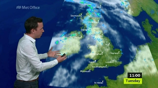 Tuesday morning forecast 13/06/2017