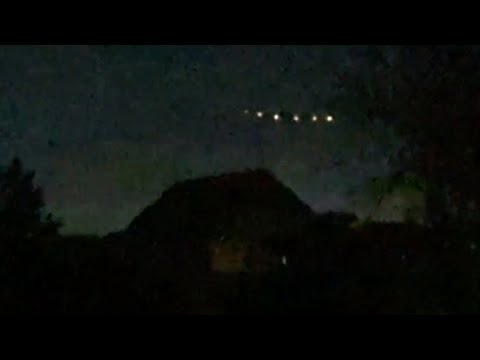 Seven Incredible Bright UFO Lights Captured Hovering above House over Lampa, Chile