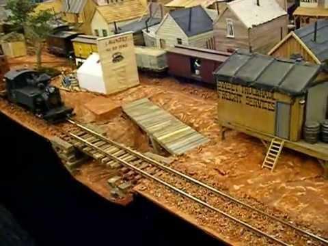 G SCALE BROKE BRICK MOUNTAIN RAILROAD LAYOUT @ BRIGHTON MODELWORLD 2013