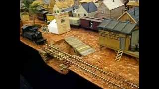 G SCALE BROKE BRICK MOUNTAIN RAILROAD LAYOUT @ BRIGHTON MODELWORLD 2013