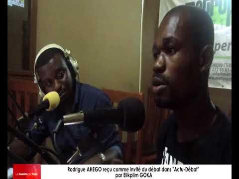 Rodrigue AHEGO reçu comme invité dans « Actu-Débat » par Elikplim GOKA