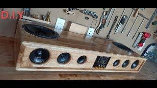 DIY Sound bar - Blueтooth Using Wood 200W