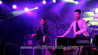 Nepalese dancers perform to Bollywood track