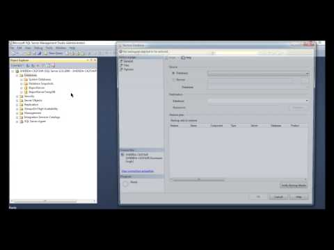 Restore Database from a BAK File in SQL Server