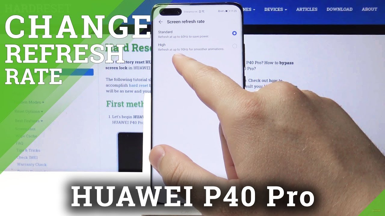 How to Change Screen Refresh Rate in Huawei P40 Pro ...