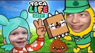 Игра про жизнь семьи в городе Toca Town City Развлекательное видео для детей