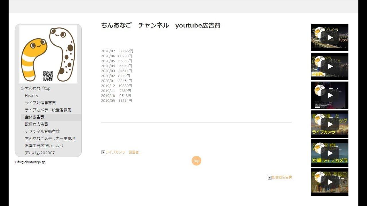 株主総会 2020年7月度 広告収入のご報告【ちんあなごチャンネル】