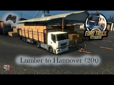 Euro Truck Simulator 2 - Lumber to Hannover (20t)