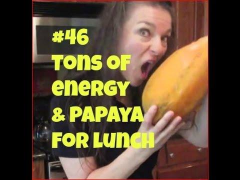 Raw Day 54**Tons Of Energy On Raw Food Diet & Papaya Lunch**VLOG #46 orJANics 50nRaw