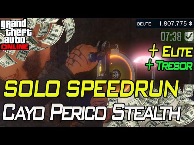 Cayo Perico Solo SPEEDRUN Stealth Elite + Tresor | Gta 5 Online