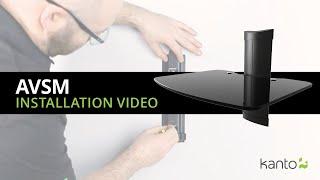 AVSM Floating Shelf Installation Guide   Kanto Mounts