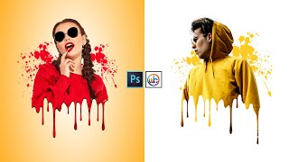 Download lagu Dripping Effect | Splatter Effect  | Photoshop Editing Tutorial