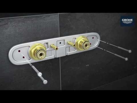 Как просто установить душевую систему GROHE Rainshower Smart Control