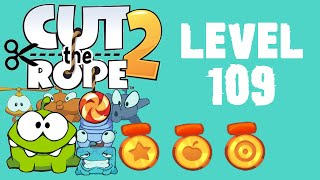 Cut the Rope 2 - Level 109 (3 stars, 54 fruits, 3 stars + don