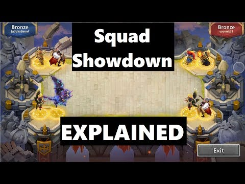 SQUAD SHOWDOWN EXPLAINED: Tutorial Day 1 Gameplay Castle Clash