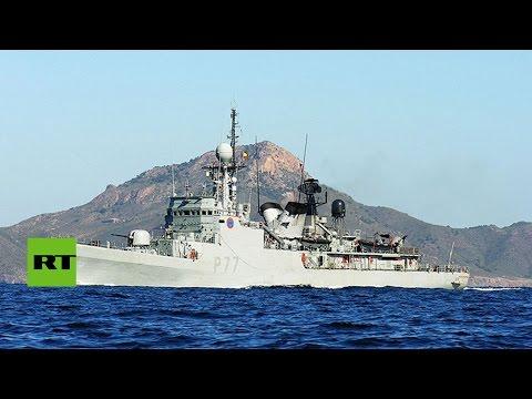 Un buque español de guerra entra en aguas territoriales británicas en Gibraltar